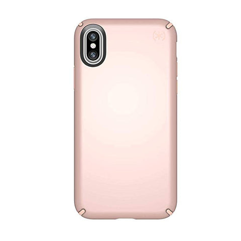 Speck Products Presidio Metallic Case for iPhone X, Rose Gold Metallic/Dahlia Peach