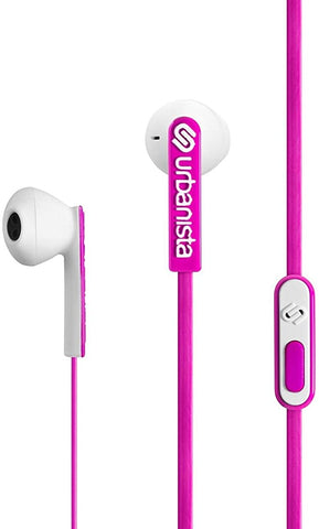Urbanista San Francisco ErgonoMic Earphones with Remote and Mic - Retail Packaging - Pink Panther/Pink