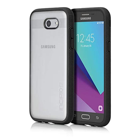 Incipio Samsung Galaxy J3/J3 Emerge/Express Prime 2/Amp Prime 2/J3 Eclipse/ J3 Mission Octane Case - Frost and Black