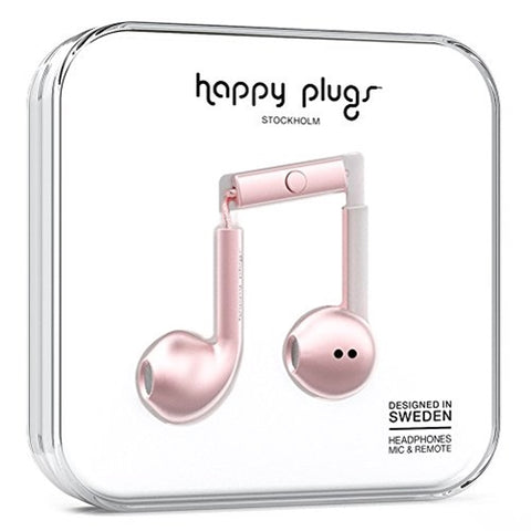 Happy Plugs Earbud Plus Headphone - Pink Gold