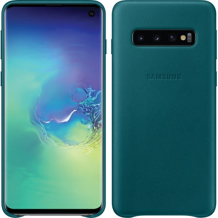 Galaxy S10 Leather Back Cover Green, Business