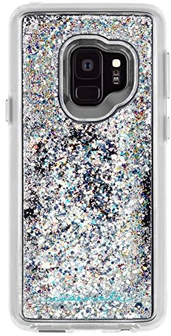 Case-Mate - Samsung Galaxy S9 Case - WATERFALL - Cascading Liquid Glitter - Protective Design - Iridescent