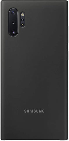 Samsung Galaxy Note10 Plus Case, Silicone Back Protective Cover - Black