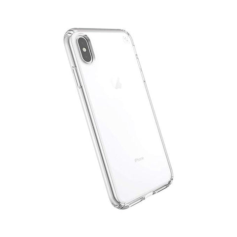 Speck Products Compatible Phone Case for Apple iPhone XS Max, Presidio Stay Clear Case, Clear/Clear