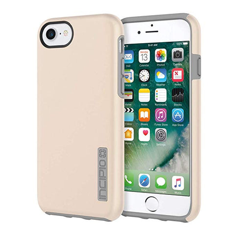 Incipio DualPro iPhone 8 & iPhone 7/6/6s Case with Shock-Absorbing Inner Core & Protective Outer Shell for iPhone 8 & iPhone 7/6/6s - Iridescent Champagne/Gray