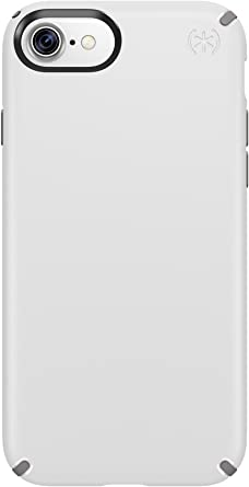 Speck Products Presidio Cell Phone Case for iPhone 7, iPhone 6/6S, White/Ash Grey