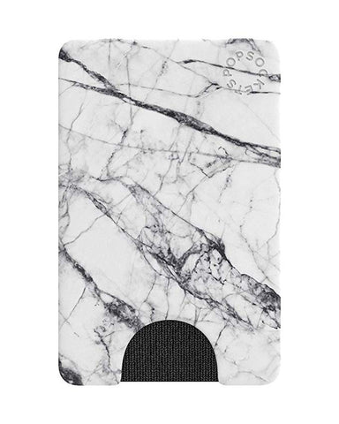 PopSockets PopWallet: Removable & Repositionable Wallet - White Marble