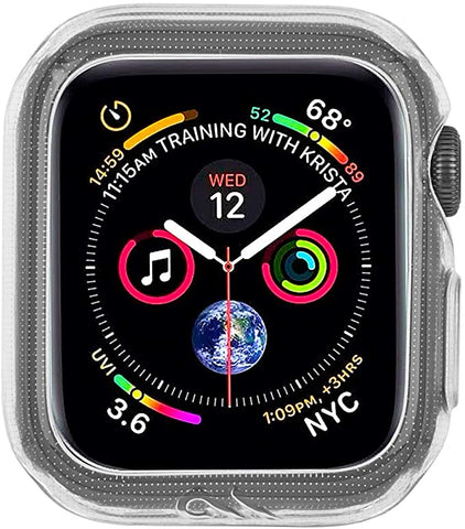 Case-Mate - Apple Watch Bumper Case - 38mm 40mm - NAKED TOUGH - Apple Watch Series 1, 2, 3, 4, 5 - Clear