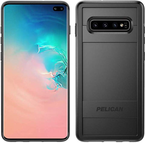 Pelican Protector Samsung Galaxy S10 Plus Phone Case, Drop-Tested Protective Smartphone Cover (Black)