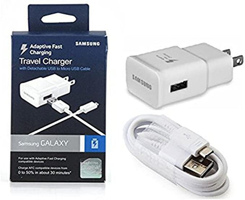 Samsung Adaptive Fast Charging Wall Charger for - White - Retail Packaging