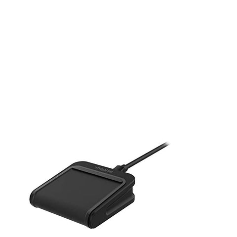 mophie Charge Stream Mini - 5W Wireless Travel Charger for Apple iPhone 8, 8 Plus, X, Samsung and Qi Enabled Smartphones - Black