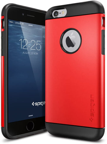 Spigen Slim Armor iPhone 6 Case with Air Cushion Technology and Hybrid Drop Protection for iPhone 6 2014 - Electric Red