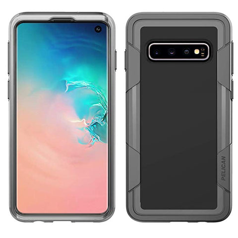 Pelican Samsung Galaxy S10 Plus Case - Voyager (Clear/Grey)