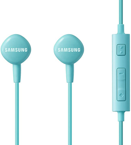 Samsung HS130 Wired Stereo Earbud 3.5mm universal headset with In-Line Multi-Function Answer/Call Button - Blue