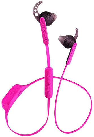 Urbanista Boston Wireless Bluetooth Sport Earphones Headset with Mic and Volume Control, Pink Panther/Pink