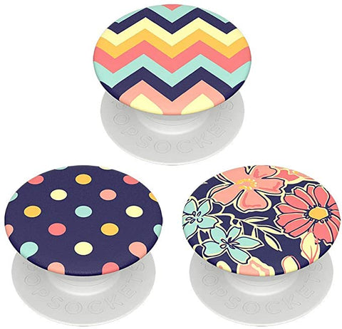 PopSockets PopMinis: Mini Grips for Phones & Tablets (3 Pack) - Fabstractions