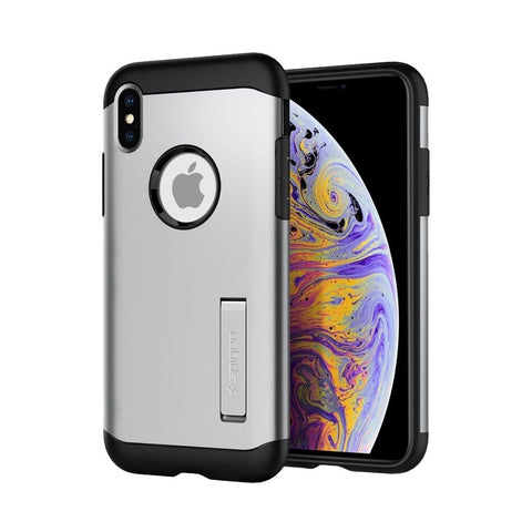 Spigen - Slim Armor Case for Apple iPhone XS Max - Satin Silver