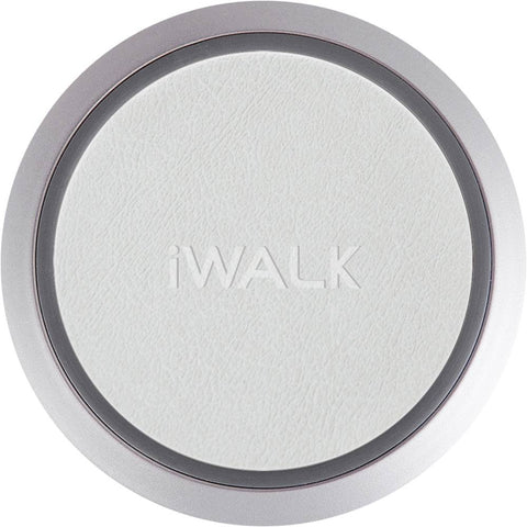 iWalk - 10W Qi Certified Wireless Charging Pad for iPhone/Android - White