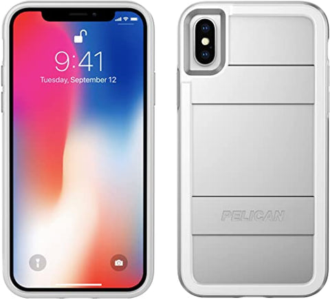 iPhone X Case | Pelican Protector iPhone X Case (Metallic Silver)