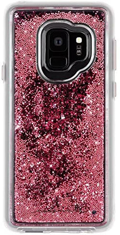 Case-Mate - Samsung Galaxy S9 Case - WATERFALL - Cascading Liquid Glitter - Protective Design - Rose Gold