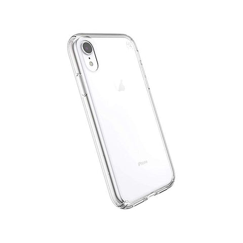 "Speck Products Compatible Phone Case for Apple iPhone XR 6.1"" Display, Presidio Stay Clear Case, Clear/Clear"