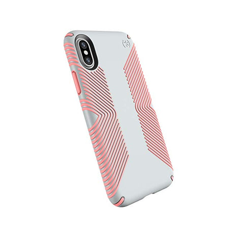 Speck Products Presidio Grip Case for iPhone XS/iPhone X, Dove Grey/Tart Pink