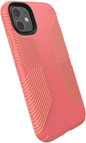 Speck Products Presidio Grip iPhone 11 Case, Parrot Pink/Papaya Pink (129909-8538)