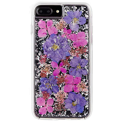 Case-Mate iPhone 8 Plus Case - KARAT PETALS - Made with Real Flowers - Slim Protective Design for Apple iPhone 8 Plus - Purple Petals