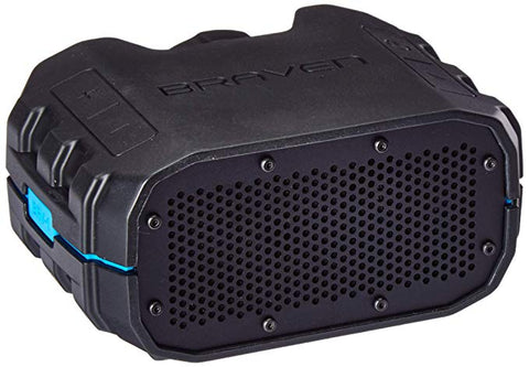 Braven BRV1BCB BRV-1 Portable Wireless Speaker, Black/Cyan