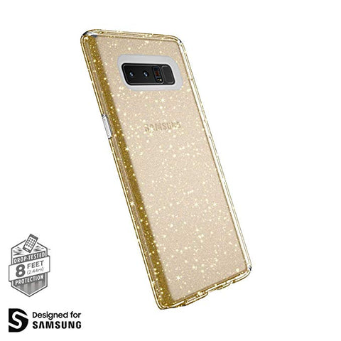 Speck Products Presidio Clear + Glitter Cell Phone Case for Samsung Galaxy Note8 - Clear With Gold Glitter/Clear Presidio Clear + Glitter