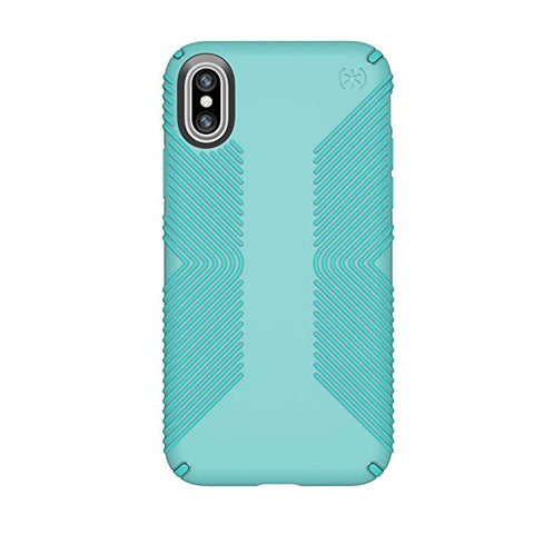 Speck Products Presidio Grip Case for iPhone XS/iPhone X, Surf Teal/Mykonos Blue