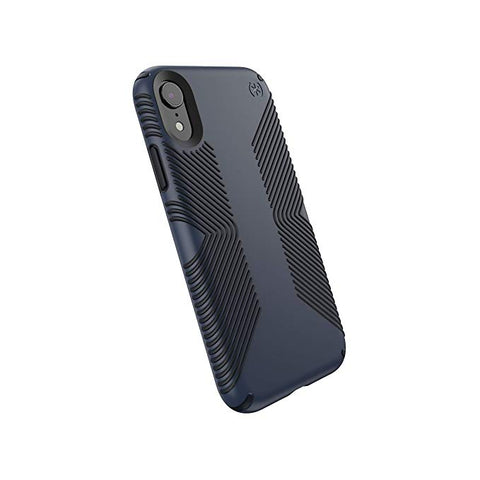 Speck Products Compatible Phone Case for Apple iPhone XR, Presidio Grip Case, Eclipse Blue/Carbon Black