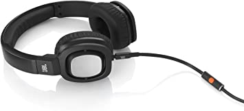 JBL J55i High-Performance On-Ear Headphones with JBL Drivers, Rotatable Ear-Cups and Microphone - Black