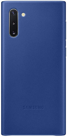Samsung Galaxy Note10 Case, Leather Back Protective Cover - Blue