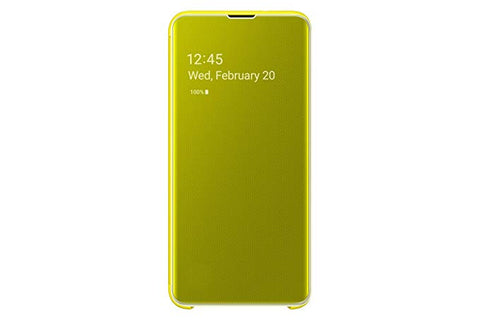 Samsung Galaxy S10e S-View Flip Case, Yellow