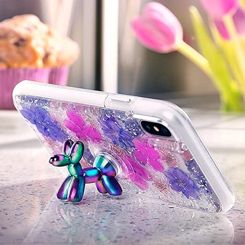 Case-Mate - Phone Holder - STAND UPS - Balloon Dog - Phone Stand - Iridescent