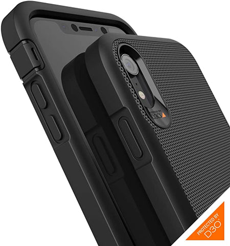 Gear4 Platoon Case with Advanced Impact Protection [ Protected by D3O ] Tough, Ultra-Durable Design Compatible with iPhone XR - Black