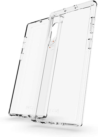 Gear4 Crystal Palace Compatible with Samsung Galaxy Note 10 Case Advanced Impact Protection with Integrated D3O Technology, Anti-Yellowing, Phone Cover – Transparent