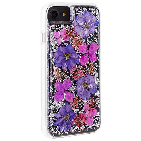 Case-Mate iPhone 8 Case - KARAT PETALS - Made with Real Flowers - Slim Protective Design for Apple iPhone 8 - Purple Petals