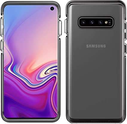 Pelican Ambassador Samsung Galaxy S10 Phone Case, Dual-Layer Drop-Tested Protective Smartphone Cover, Raised Bevels and Anti-Scratch Clear Back Accessory (Clear/Black)