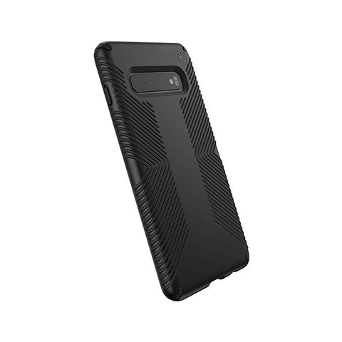 Speck Samsung Galaxy S10 Plus Drop Protection Slim Rubber No-Slip Enhanced Grip Textured Presidio Grip Cover Case - Black