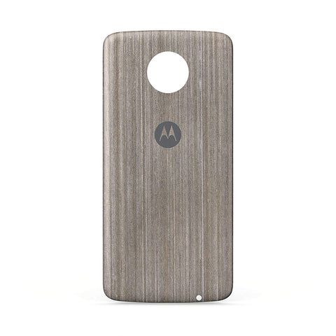 Moto Z Case Silver Oak Wood