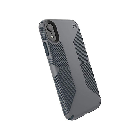 Speck Products Compatible Phone Case for Apple iPhone XR, Presidio Grip Case, Graphite Grey/Charcoal Grey