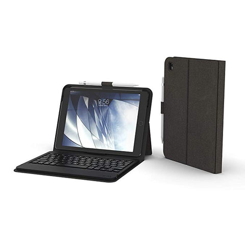 "ZAGG Messenger Folio - Bluetooth Tablet Keyboard - Made for Apple iPad 9.7"" (Gen 7) - Charcoal"
