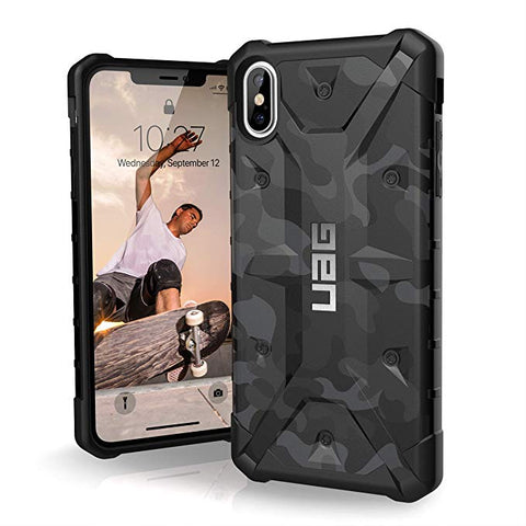 "UAG iPhone Xs Max [6.5"" Screen] Pathfinder Camo Feather-Light Rugged [Midnight]"