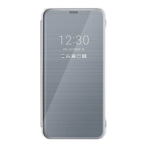 Genuine Official LG G6 Quick Cover Clear View Flip Case Cover - Platinum Silver