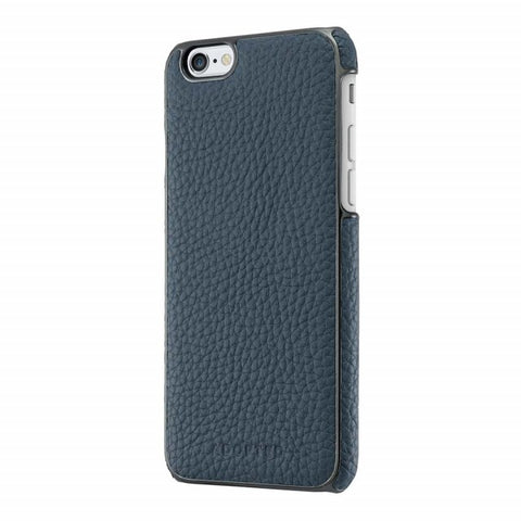 Adopted Leather Wrap Case for Apple iPhone 6/6s, Navy/Gunmetal