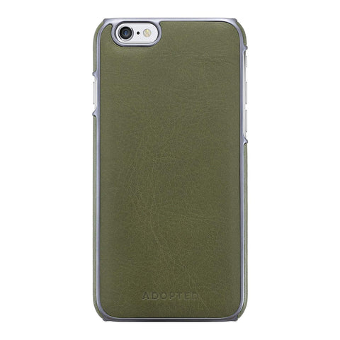 Adopted Leather Wrap Case for Apple iPhone 6/6s, Saddle Olive/Gunmetal