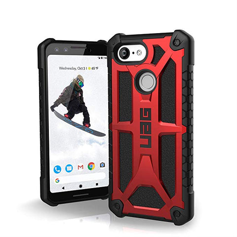 UAG Made for Google Pixel 3 [5.5-inch screen] Monarch Feather-Light Rugged [Crimson] Military Drop Tested Case