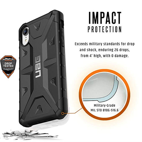 UAG iPhone XR [6.1-inch Screen] Pathfinder Feather-Light Rugged [Black] Military Drop Tested iPhone Case
